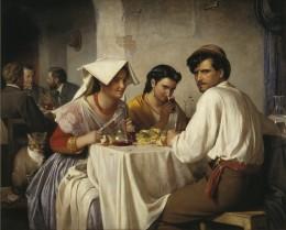 Romersk Osteria - Maleri af Carl Bloch
