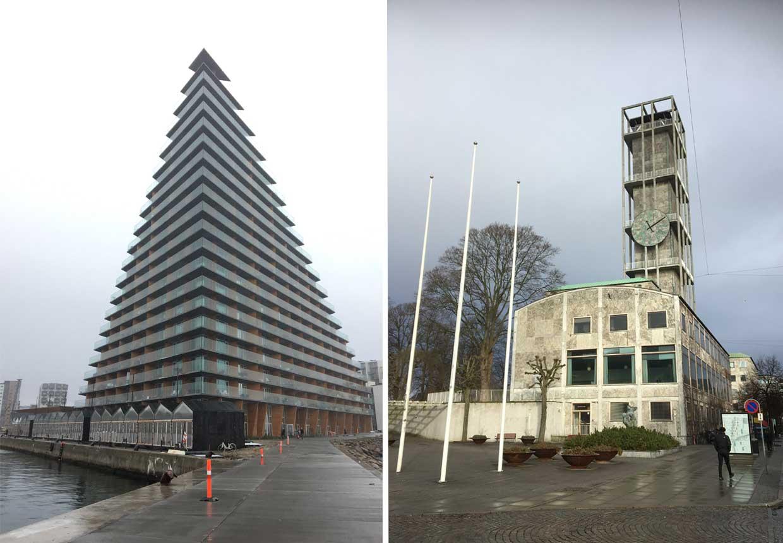 Moderne arkitektur Århus - Bjarke Ingels og Arne Jacobsen.