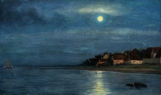 Måneskin i Hellebæk - Carl Bloch