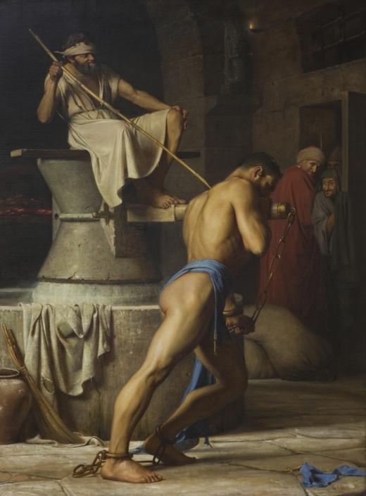 Samson hos Filistrene, 1863 (SMK - Public Domain)