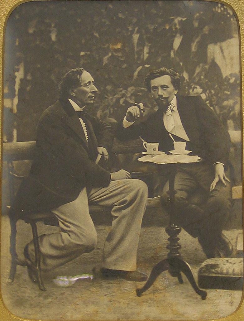 Hans Christian Andersen og Carl Bloch, ca. 1868 (Public domain)